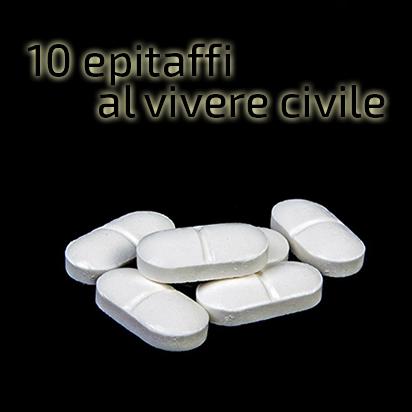10 epitaffi al vivere civile